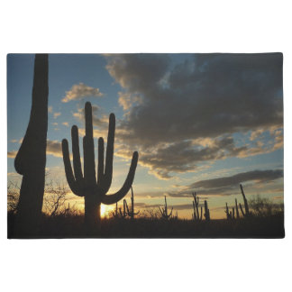 Saguaro Sunset II Arizona Desert Landscape Doormat