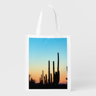 Saguaro Sunset Reusable Grocery Bag