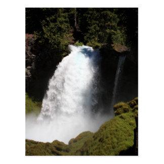 Sahalie Falls Oregon Waterfall Postcard