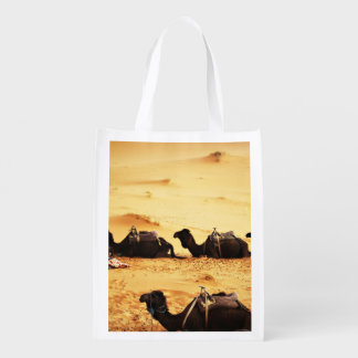 Sahara Themed, Lineup Of Camels In Golden Sand Sah