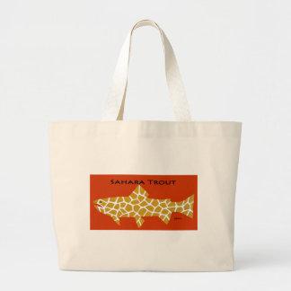 Sahara Trout Tote Bags