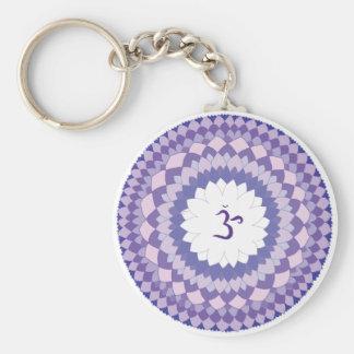 Sahasrara chakra mandala key ring