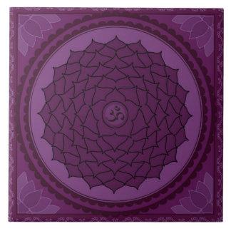 Sahasrara or Crown Chakra Large Square Tile