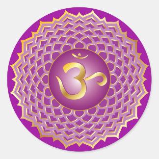 Sahasrara or crown chakra Sticker