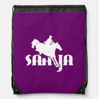 SAHJA logo helmet bag