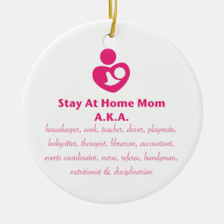 SAHM Heart Ceramic Ornament