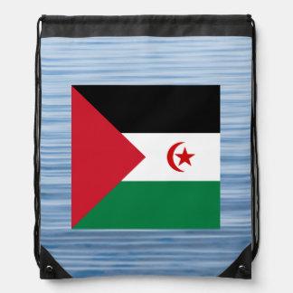 Sahrawi Flag Floating on water Backpacks