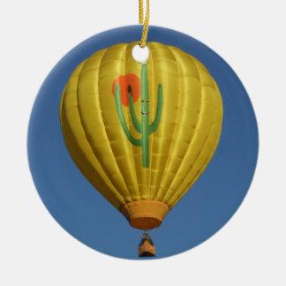 Sahuaro Sunrise Balloon Ceramic Ornament