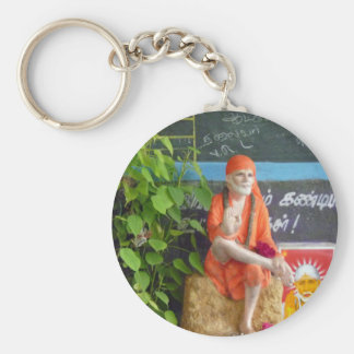 Sai Baba at the Auto Stand Key Ring