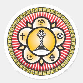 Sai Baba Icon Round Sticker