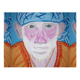 SAI BABA of Sirdi Monk Master Guru Yogi Blessing Post Card