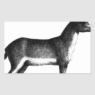 Saiga Antelope Rectangular Sticker