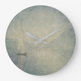 Sail Against The Wind Wall Clock