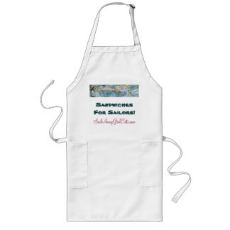 Sail Away Girl Eats Logo Apron