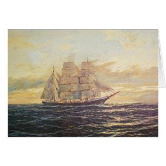 Sail Away Masculine Birthday Card