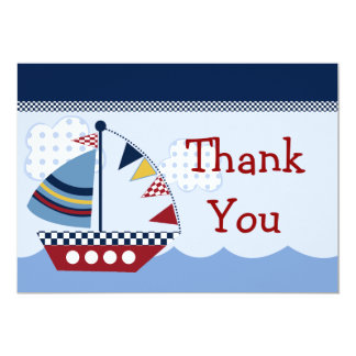 Sail Away/Nautical/Boat #2 Thank You Card