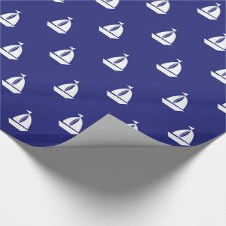 Sail Away On Blue Gift Wrap