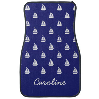 Sail Away on Blue Personalized Car Mats Floor Mat