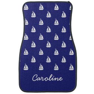 Sail Away on Blue Personalized Car Mats Floor Mat