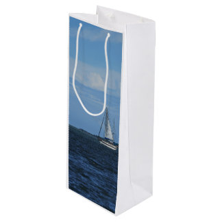 Sail Away Painterly Wine Gift Bag