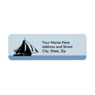 Sail away return address label