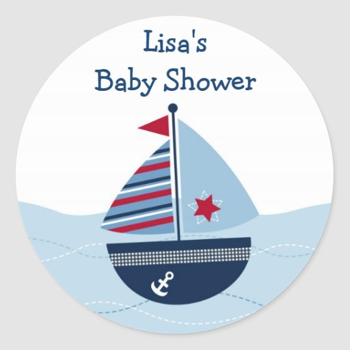 Sail Away Sailboat Envelope Seals Stickers