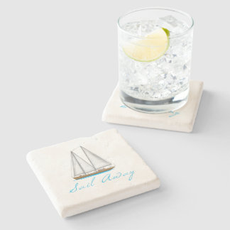 Sail Away Stone Coaster