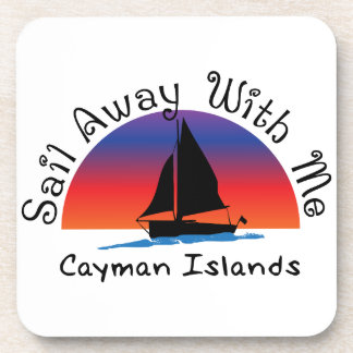 Sail away with me Cayman Islands. Beverage Coaster