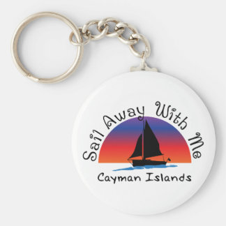Sail away with me Cayman Islands. Key Ring