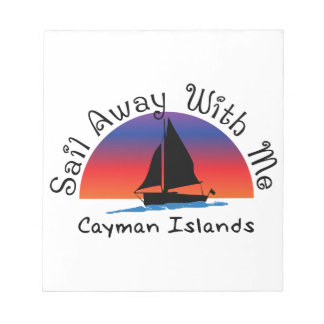 Sail away with me Cayman Islands. Notepads