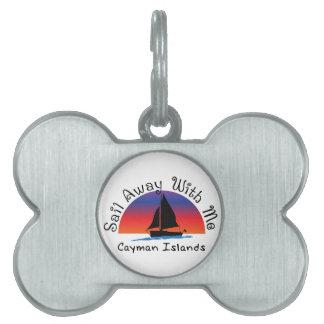 Sail away with me Cayman Islands. Pet ID Tags