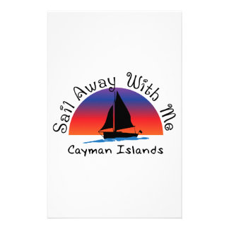 Sail away with me Cayman Islands. Stationery