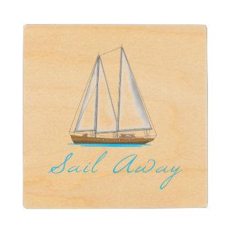 Sail Away Wood Coaster