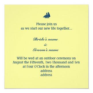 Sail Boat 13 Cm X 13 Cm Square Invitation Card