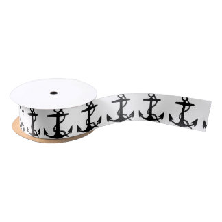 Sail Boat Anchor Satin Ribbon