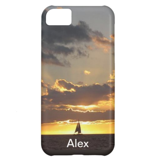 Sail boat at sunset iPhone 5C covers