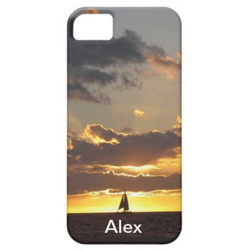 Sail boat at sunset iPhone 5 case