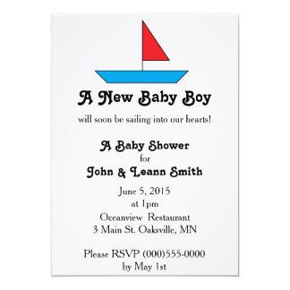 """Sail Boat"" Birth Announcement"