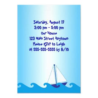 "Sail Boat Birthday Invitation 5"" X 7"" Invitation Card"