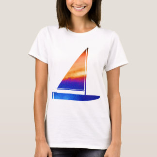 Sail  boat - Blue n Red T-Shirt