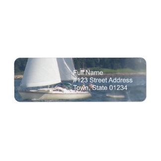 Sail Boat Bubbles Return Mailing Label Return Address Label