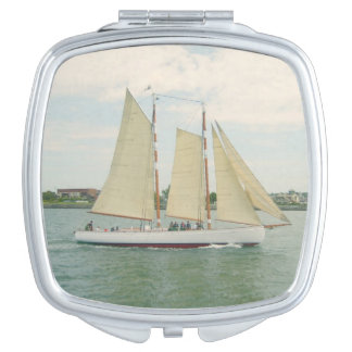 Sail Boat Customizable Compact Mirror