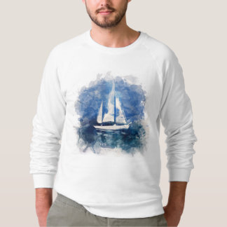 Sail Boat in Stormy Weather Sweat Shirt