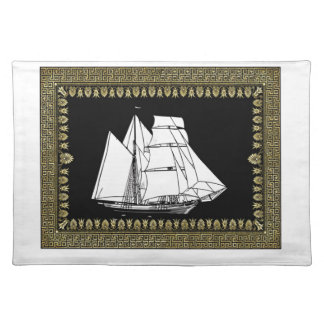 sail boat in the water placemat