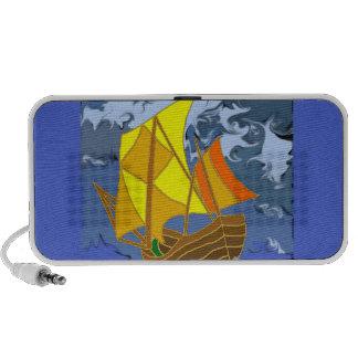 Sail boat on stormy seas custom speaker