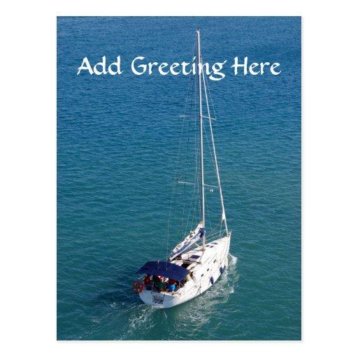 Sail boat Post Card