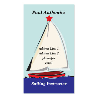 Sail Boat Profile Card Business Card Template