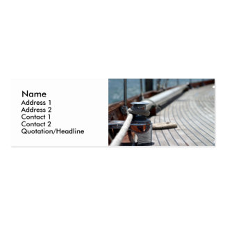 sail boat rope pack of skinny business cards