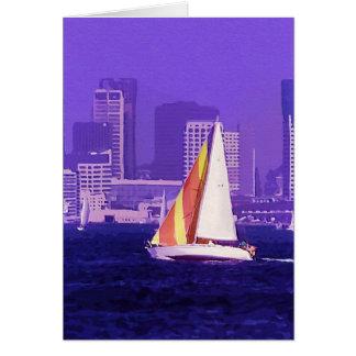 Sail Boat, San Diego, California Greeting Card