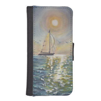 Sail Boat Sea Sun iPhone 5/5s Wallet Case